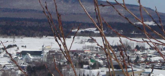 Village de Ham-Nord en hiver